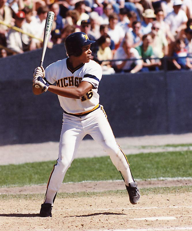 Drafted in the second round by the Cincinnati Reds out of high school and offered both a baseball and football scholarship to Michigan, shortstop Barry Larkin chose to attend school and focus only on baseball. He played three years before being drafted again (fourth overall) by the Reds in 1985. While at Michigan, he earned All-America honors and played for the 1984 Olympic team before having a successful 18-year pro career.