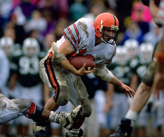 Elias burst through holes and into the Ivy record books in the mid-90s, providing the driving force behind Princeton's 1992 league title. His 320 points scored and 4,208 rushing yards rank third and fifth in Ivy history, respectively. In the Princeton record books, he's all alone at the top in rushing yards per game (299), season (1731) and career.
