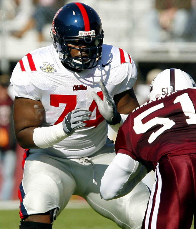 Oher was the focus of Michael Smith's 2006 book, <i>The Blind Side: Evolution of a Game</i>. He declared for the draft in January, but returned for one last season in Oxford.