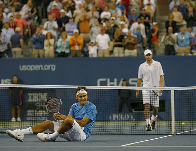 Federer won his third straight U.S. Open -- and his third Grand Slam of the year -- with a 6-2, 4-6, 7-5, 6-1 victory over Andy Roddick. He would finish the 2006 season several thousand points ahead of Nadal, his nearest competitor, in the ATP rankings.