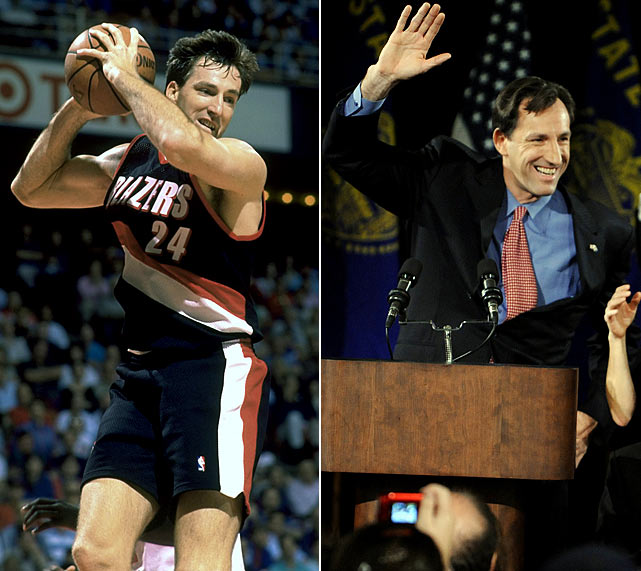 A defensive specialist who played with a blue-collar sensibility throughout his NBA career, Chris Dudley seemed well suited for politics. However in 2010 he lost a close Oregon gubernatorial race to Democrat John Kitzhaber.