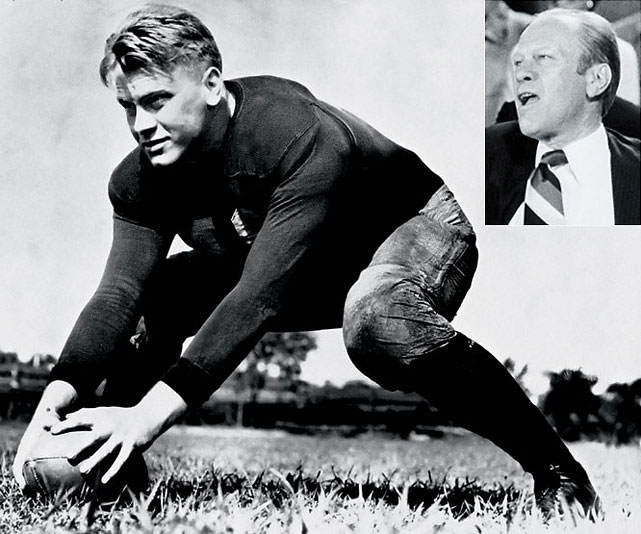 A hero of the Michigan football team before inheriting the presidency from Nixon, Ford was named the Wolverines' Most Valuable Player after his senior year.