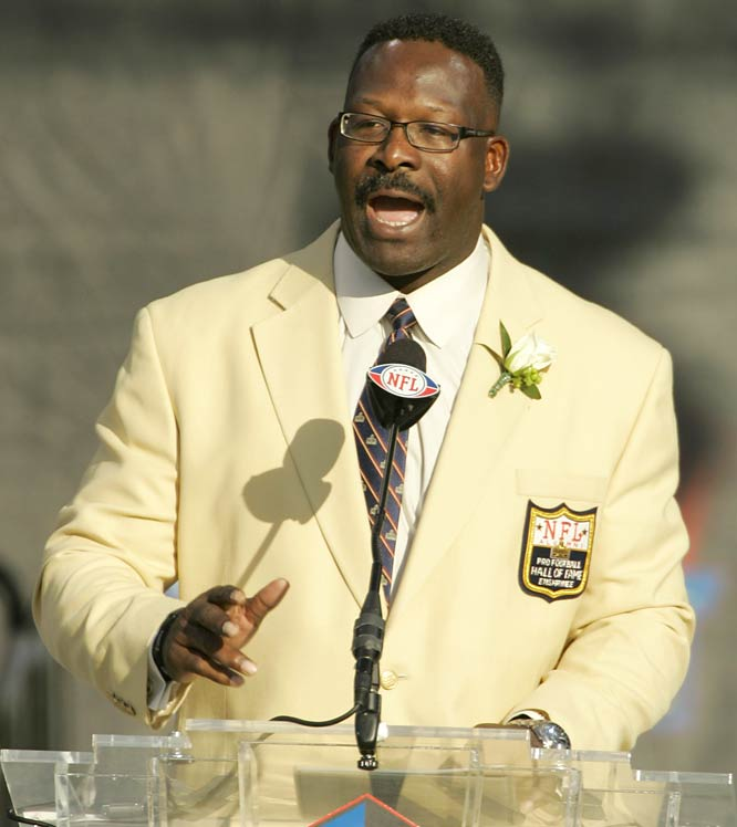 In his day, Andre Tippett was the AFC's version of Lawrence Taylor. As a fercious outside linebacker with the Patriots, Tippett feasted on opposing linemen and swallowed up quarterbacks -- to the tune of 100 career sacks, ranking 21st all time.