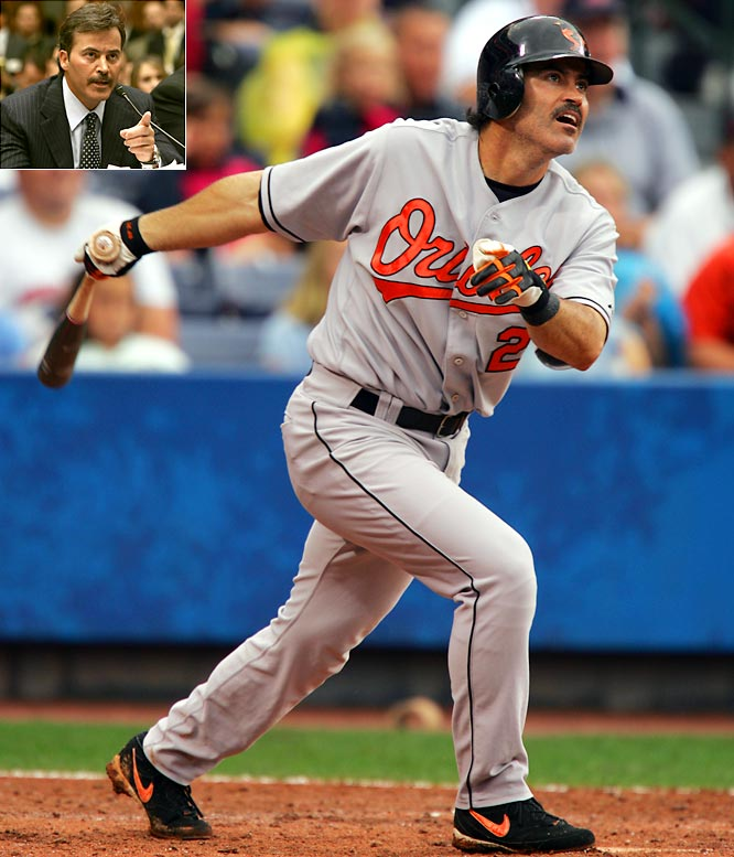 "Rafael Palmeiro becomes the highest profile player to be suspended for violating the MLB steroids policy. The Orioles first baseman, who denies knowingly taking any banned substances, had stated in the spring to the House Government Reform Committee that published allegations by Jose Canseco of his steroids use were ""absolutely false"" and had considered suing his former teammate over the accusation."