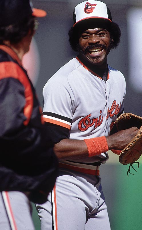 Baltimore's Eddie Murray knocks in nine RBIs in a game against the California Angels