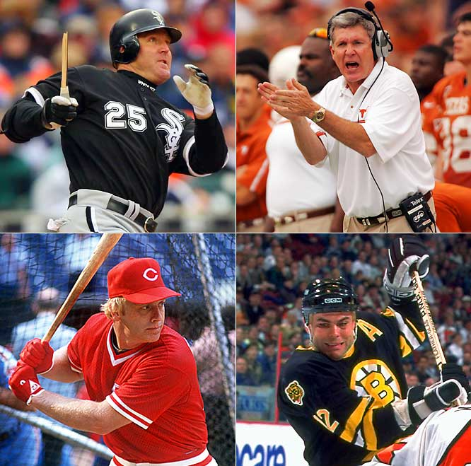 (Clockwise from top left)<br><br>Jim Thome (1970) <br>Mack Brown (1951)<br>Adam Oates (1962)<br> Buddy Bell (1951)