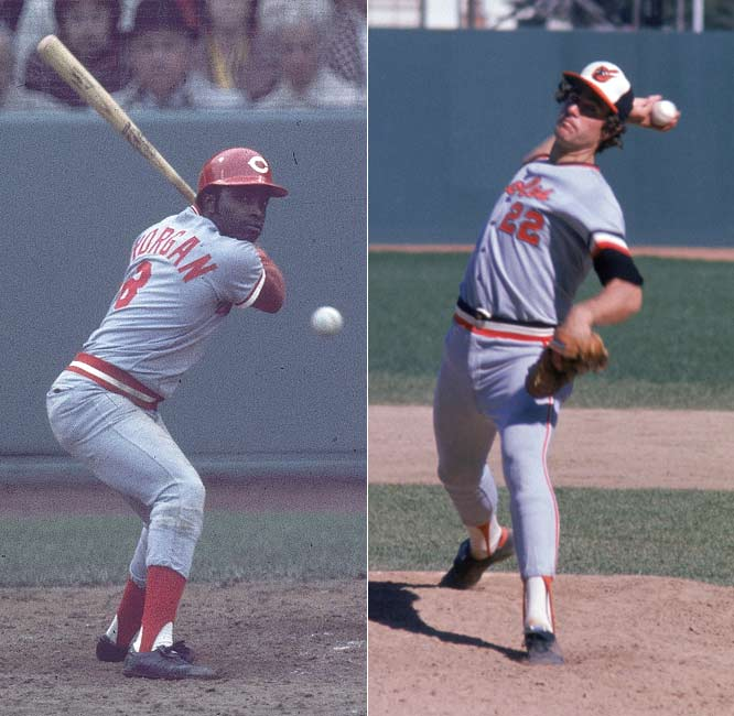 Jim Palmer and Joe Morgan are inducted into the Baseball Hall of Fame.