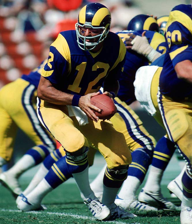 Hobbled by chronic knee woes and bad wheels, Broadway Joe was waived by the Jets, who were unable to trade him, and went west to Hollywood where he signed with the L.A. Rams in May 1977. Hope of a revival was stirred when they won two of their first three games, but Namath proved to be less than mobile than a department store mannequin. After he was harassed into four picks and pounded into the rainy Soldier Field sod by the Bears in a Monday night loss, Namath never saw NFL game action again.