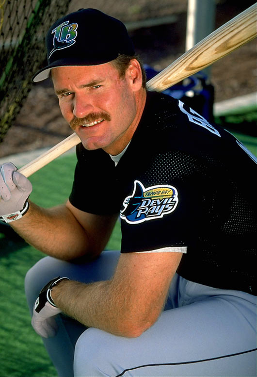 After five seasons with the Yankees, which included his only World Series title, the five-time batting champ went home after New York declined to pick up his $2 million option for 1998. Wishing to pursue his 3,000th career hit in front of family and friends, Boggs signed with woeful Tampa Bay for a bargain basement price of $750,000. In 1999, he reached his milestone, becoming the first player whose 3,000th hit was a home run. A knee injury then hastened the end of his career, and he retired with a lifetime average of .328 and 3,010 hits.