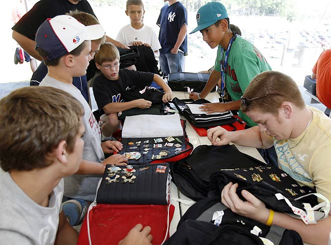 Among the anticipated events at the LLWS is the trading of pins. Sponsors, players, fans and parents are known to take part in the past-time.