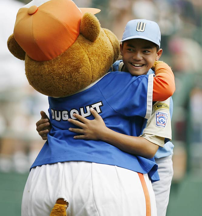 Among Tokunaga's fans was the Little League mascot.