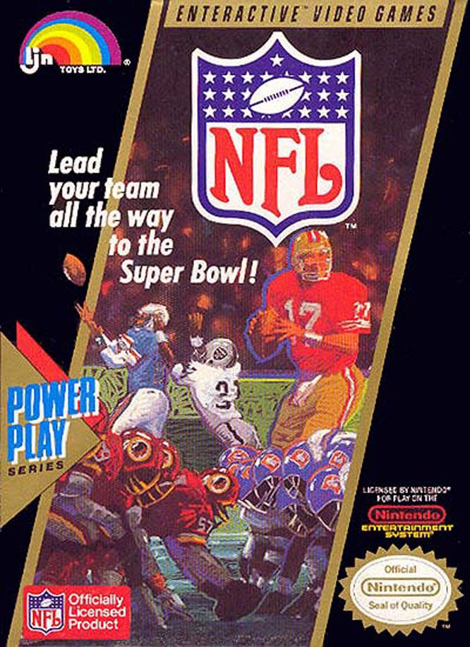 This unheralded NES game, developed by Atlus and published by LJN, was actually the first to acquire an official NFL license.