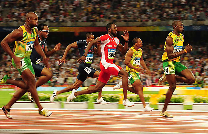 The final turned into a rout, as the 21-year-old Usain Bolt took a huge lead halfway through the race.