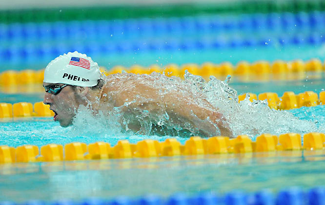 Phelps won his heat in 4 minutes, 7.82 seconds -- 0.44 second better than his gold-medal-winning time four years ago in Athens.