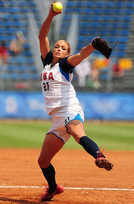 Jennie Finch during a preliminary game against China.