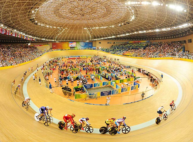 Track cycling women's points race.