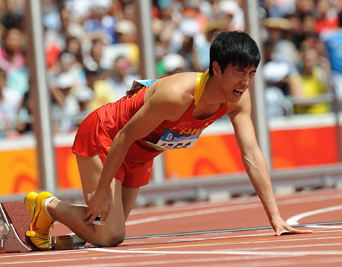 As Liu winced in pain, fans and spectators at the Bird's Nest started sobbing. Their hero had fallen.