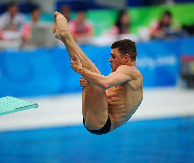 Troy Dumais of the U.S. during the 3-meter springboard semifinals.