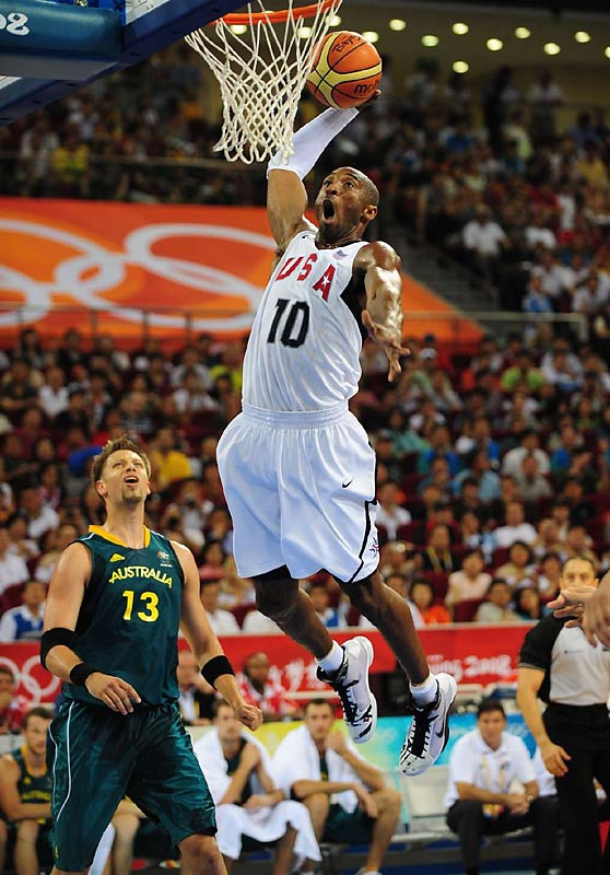 Kobe Bryant and the U.S. defeated David Anderson and the Aussies 116-85 in the quarterfinals.