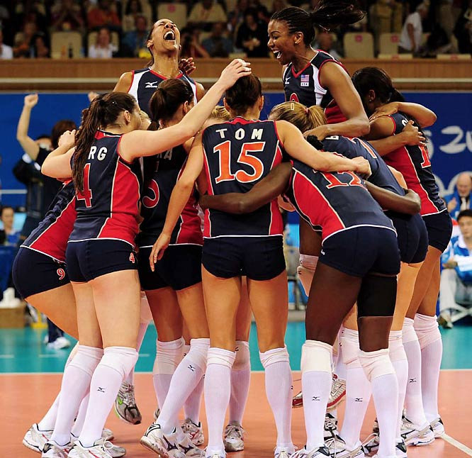 The U.S. women's volleyball team advanced to the championship game, defeating Cuba in three sets on Thursday to guarantee the Americans their best Olympic finish since 1984.