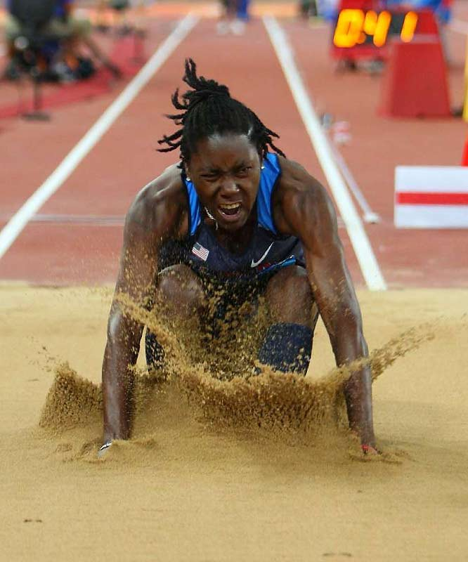 Brittney Reese of the U.S. finished fifth in the long jump.