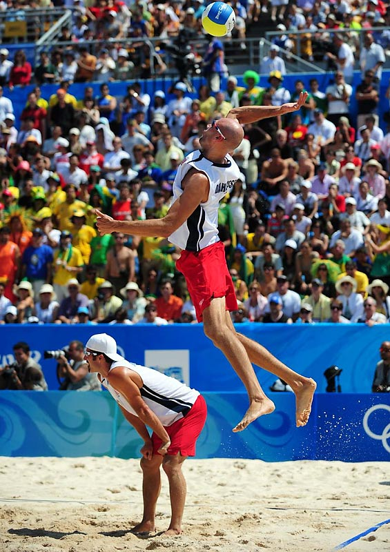 Phil Dalhausser and Todd Rogers of the U.S. defeated Marcio Araujo and Fabio Luiz Magalhaes of Brazil in the beach volleyball final on Friday.