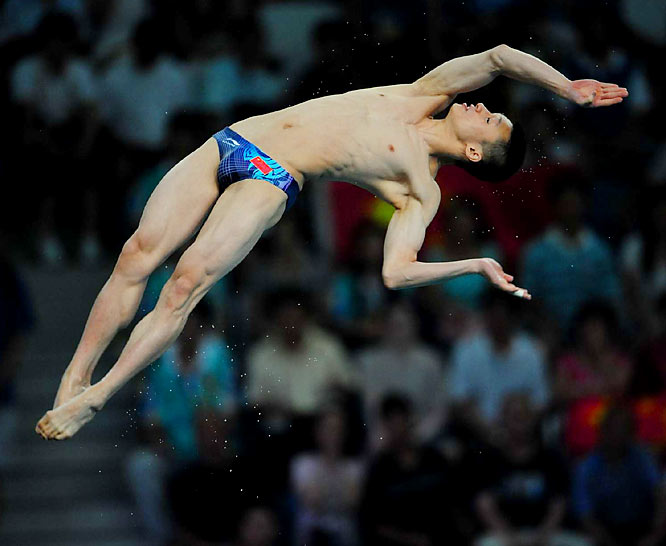 Zhou Luxin of China won the silver medal in the 10-meter platform final. In winning seven of the eight diving medals, China claimed 11 of the 24 medals awarded in the sport that has produced the host nation's most Olympic medals.