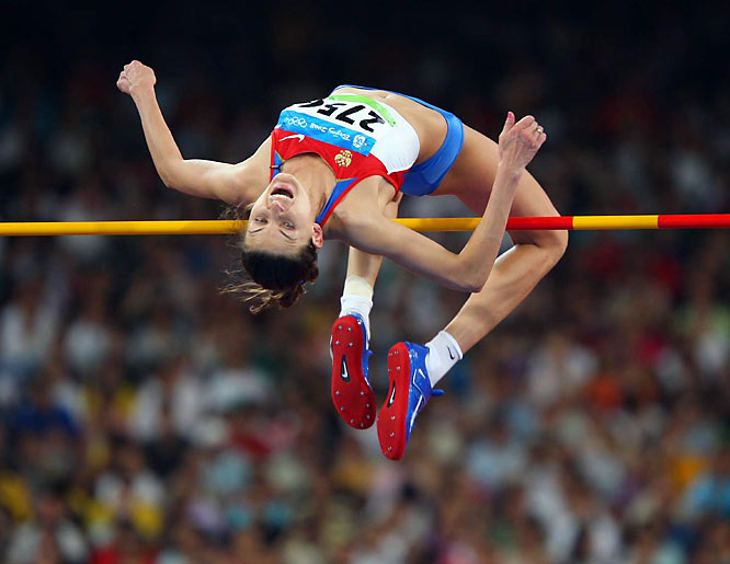 Anna Chicerova of Russia won the Bronze in the high jump final.