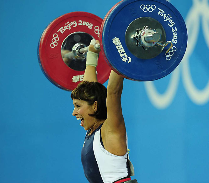 USA's Melanie Roach lifting in the 53kg event.