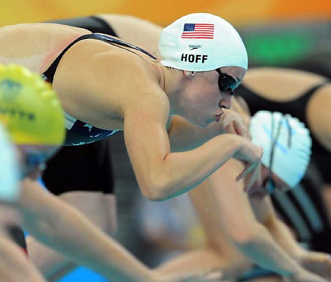 Katie Hoff of the U.S. survived her heat of the  individual medley.
