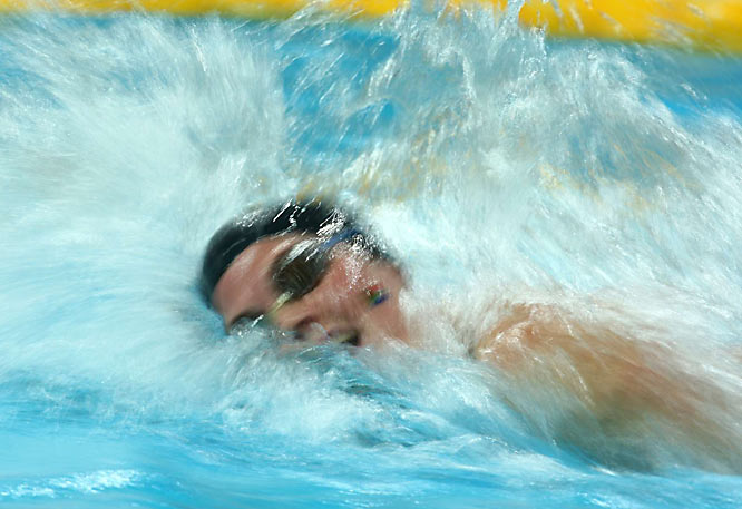 Melissa Corfe of Russia in a 200 meter freestyle heat.