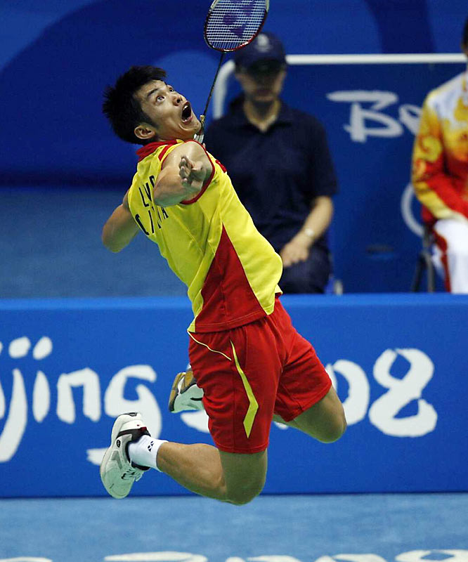 Lin Dan of China in the badminton competition.