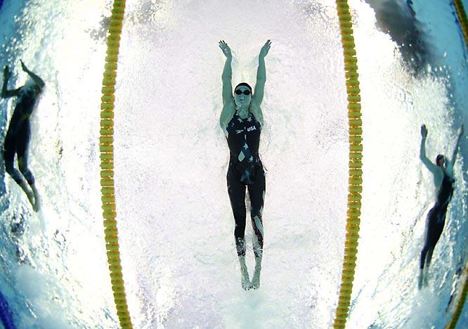 Katie Hoff during the women's 200m individual medley semis.