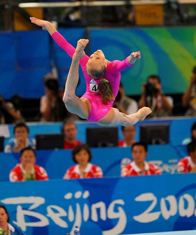 Nastia Liukin displays the talent that won her gold in the women's individual all-around final.