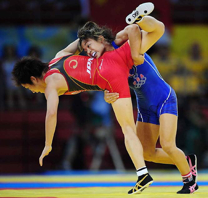 American 48 kg wrestler Clarissa Chung was pinned in her bronze-medal match against Japan's Chiharu Icho.