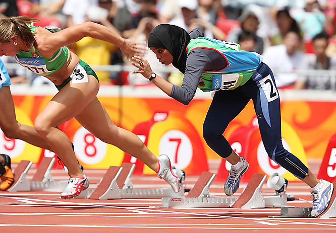 Yemen's Waseelah Saad failed to qualify in the 100m after finishing seventh in her preliminary heat.
