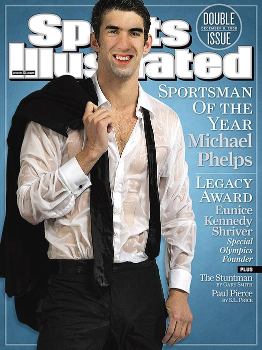 Michael Phelps graced the cover for the seventh time after he was named the 2008 Sports Illustrated Sportsman Of The Year.