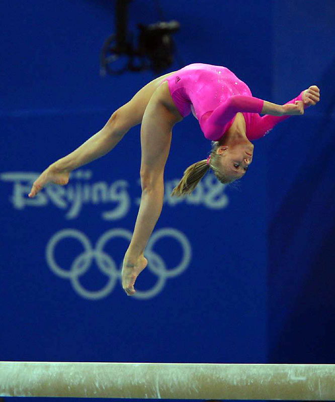 Liukin gets her grace from her mother Anna, who was a rhythmic gymnastics world champion, and her father: four-time Olympic medalist Valeri Liukin.