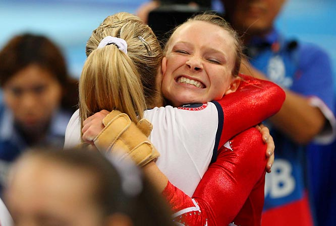 Bridget Sloan competed in the vault for the U.S., her only event in the final.
