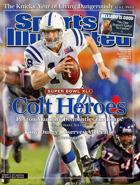 Everything started to fall into place for the Colts once Peyton Manning, a quarterback from the University of Tennessee, was selected by Indianapolis as the first pick in the 1998 Draft. Head coach Tony Dungy arrived in '02 and since then, the Colts have made the playoffs ever year, winning five Division championships and Super Bowl XLI along the way.
