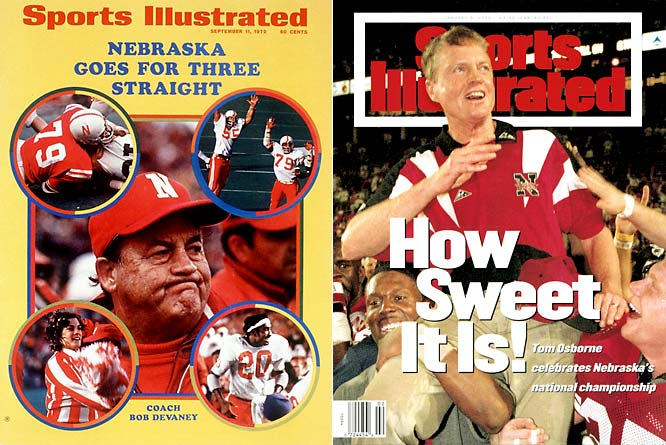 Despite its recent struggles, it wasn't long ago that the Big Red Machine rolled over opponents year after year. Under head coaches Bob Devaney and Tom Osborne, the Cornhuskers won national championships in 1970, 1971, 1994, 1995 and 1997.