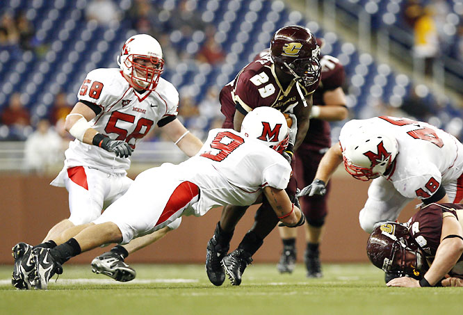 Mullins was named MAC Defensive Player of the Year in 2007, compiling 143 tackles and 13.5 tackles for loss. Mullins, Joey Hudson and Caleb Bostic make up one of the finest linebacker trios in the country.