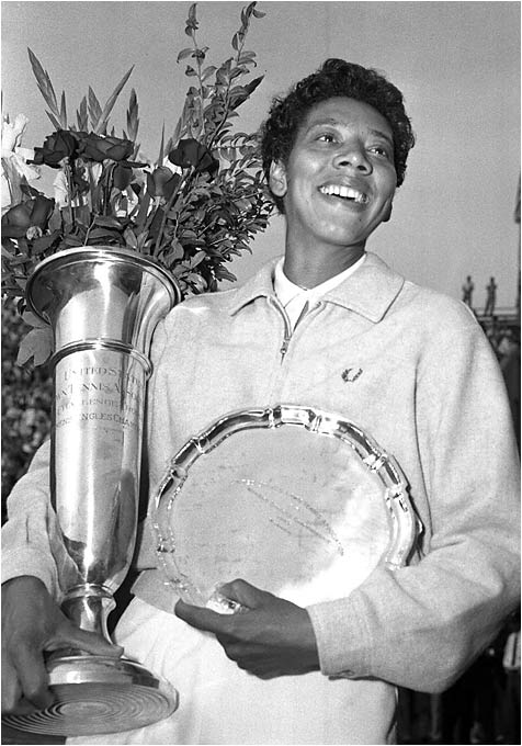 Gibson became the first African-American to win Wimbledon and the U.S. Championships, winning both tournaments in 1957 and 1958.