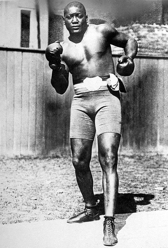 Johnson became the first African-American to win the world heavyweight championship by defeating Tommy Burns by TKO on Dec. 26, 1908.