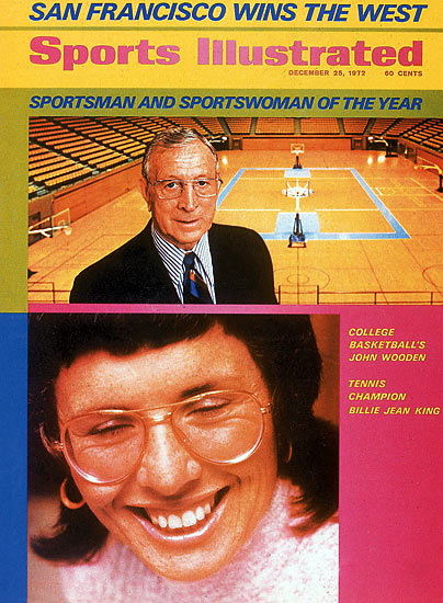 One year before she defeated Bobby Riggs in the famous Battle of the Sexes, King became the first woman to be named SI's Sportsperson of the Year.