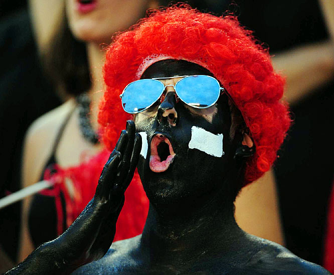 Luckily these shades reflect this fan's joy and not the on-field product.