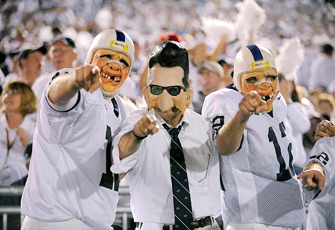 White Out night lended itself well to dressing up like Joe Pa.
