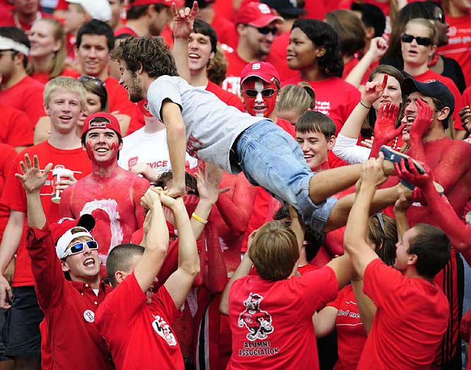 Upsetting ranked ECU was exciting enough to give these N.C. State fans some extra energy and strength.