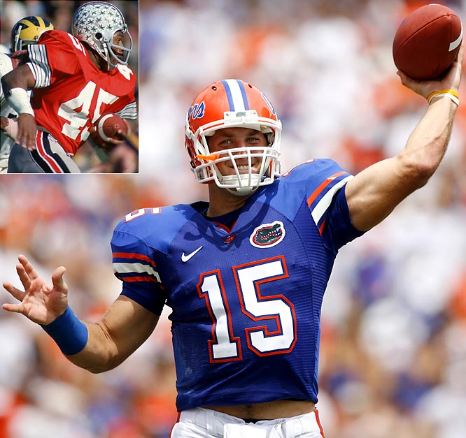 "Florida quarterback Tim Tebow -- called the ""greatest player of our era"" by coach Urban Meyer -- has the opportunity to join former Ohio State running back Archie Griffin as the only players ever to win two Heisman trophies."