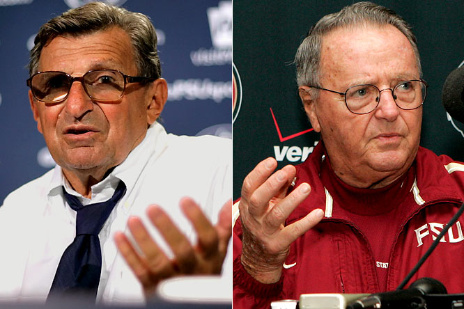 Paterno is in the last season of his contract, and Nittany Lions brass refuse to discuss the iconic coach's future until after the season. Therefore, this could definitely be his swan song. Bowden signed a one-year extension last November, but he has admitted that his time as 'Noles head man is winding down. And head-coach-to-be Jimbo Fisher is waiting in the wings.